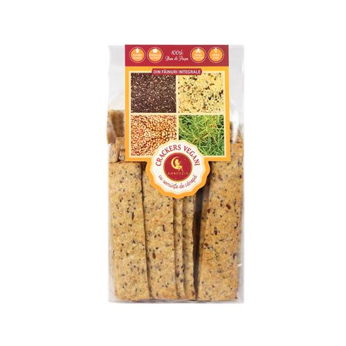 Crackers Vegani Cu Seminte De Canepă, In si Chia Ambrozia