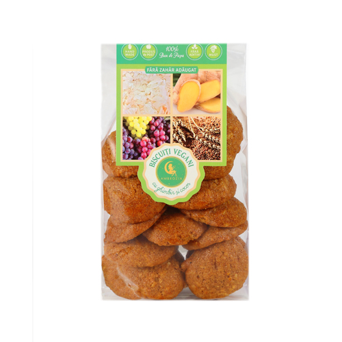 Biscuiti vegani cu ghimbir și cocos Ambrozia