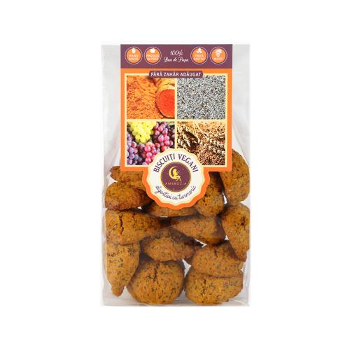 Biscuiti vegani digestivi cu mac si turmeric Ambrozia