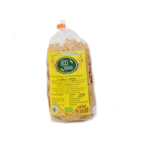 Biscuiti ecologici integrali cu seminte de floarea soarelui Ecomania